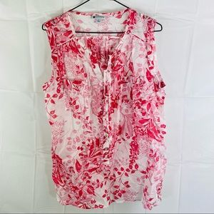 Rockmans Faded Pink & White Floral Top Size 14